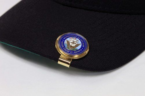 US Navy Cap Clip with Golf Ball Marker by Golf By