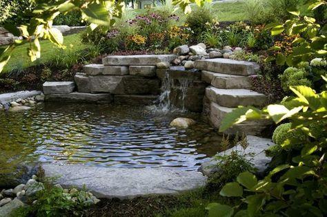 Gartenteich mit Steinen und Bachlauf anlegen Balkon  Garten - bachlauf im garten anleitung