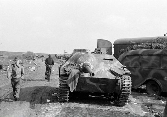 """bmashina: """"The tank destroyer """"Hetzer"""" somewhere on the Eastern front. """""""