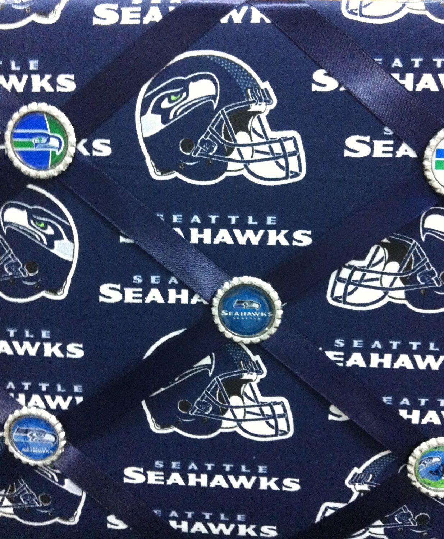 best website 43057 78f88 Seattle Seahawks Memo Board, Seahawks Fabric Memo Board ...