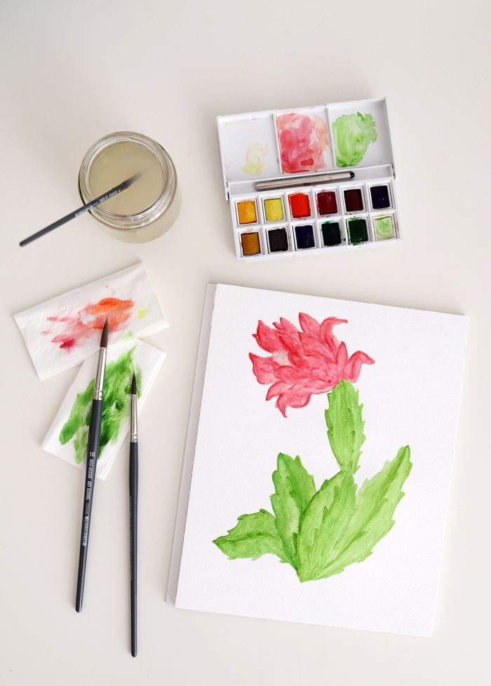 Diy Botanical Watercolor Illustration Watercolor Illustration