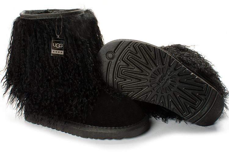 UGG 1875 Black Sheepskin Cuff Boots $117.00 All kinds of UGG boots as gifts are on