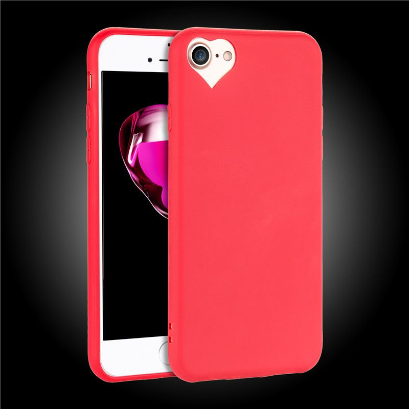 hot sale online f0073 e6e25 Heart Shaped Camera Hole iPhone 7 / 8 Candy Color Cases in 2019 ...