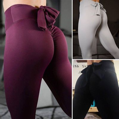 cd0824feaa0f3 Sexy Womens Butt Lift Yoga Pants Hip Push Up Leggings Exercise Work out  Stretch