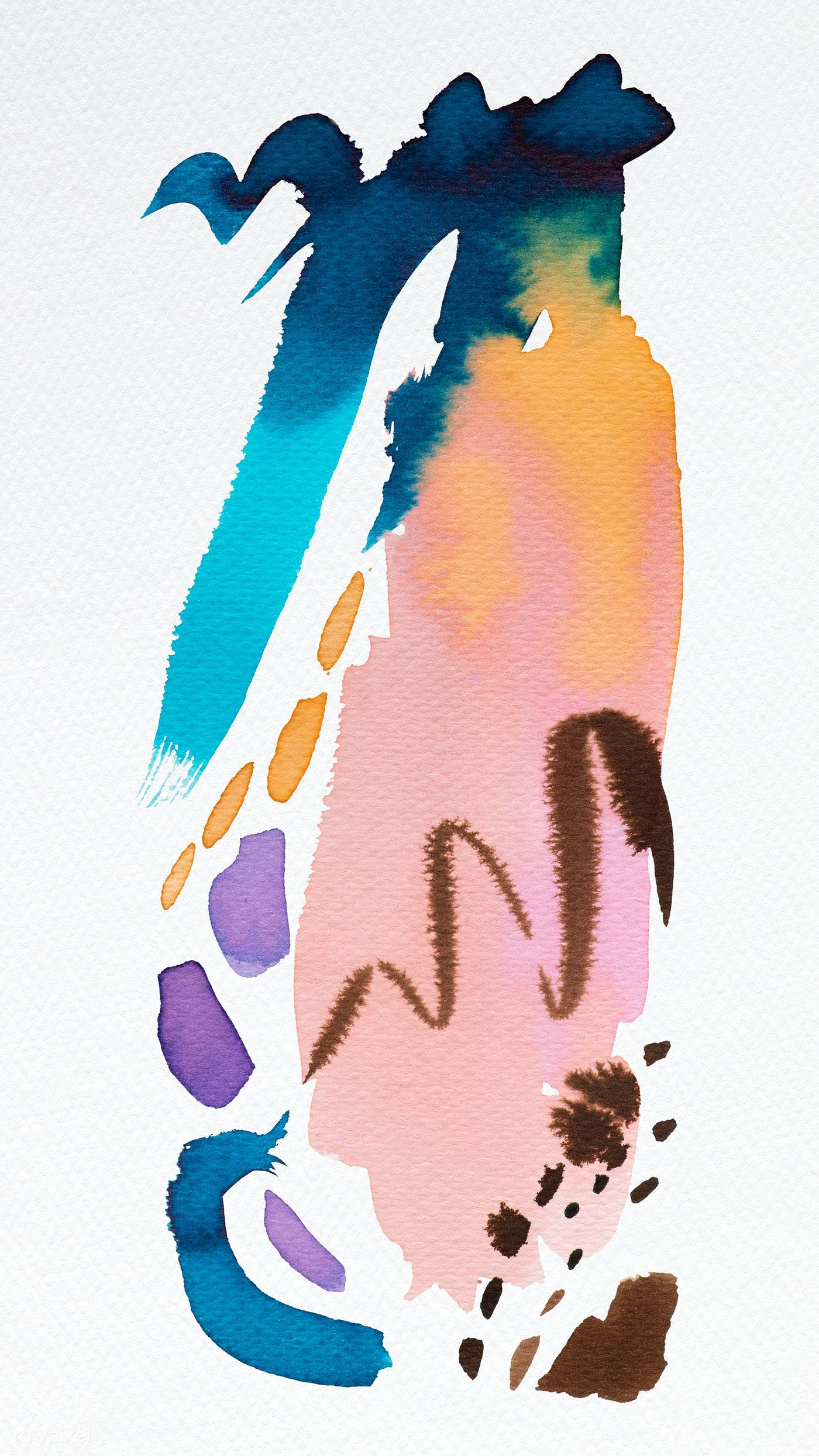 Mixed Watercolor Brush Paint Phone Background Free Image By