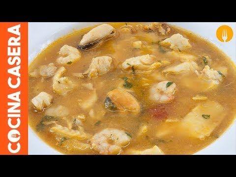Sopa De Pescado Sencilla Youtube Sopa De Pescado Facil Sopa De Mariscos Receta Sopa De Mariscos