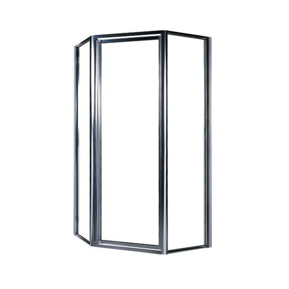 Swan 36 In X 70 In Neo Angle Framed Pivot Shower Door In Chrome