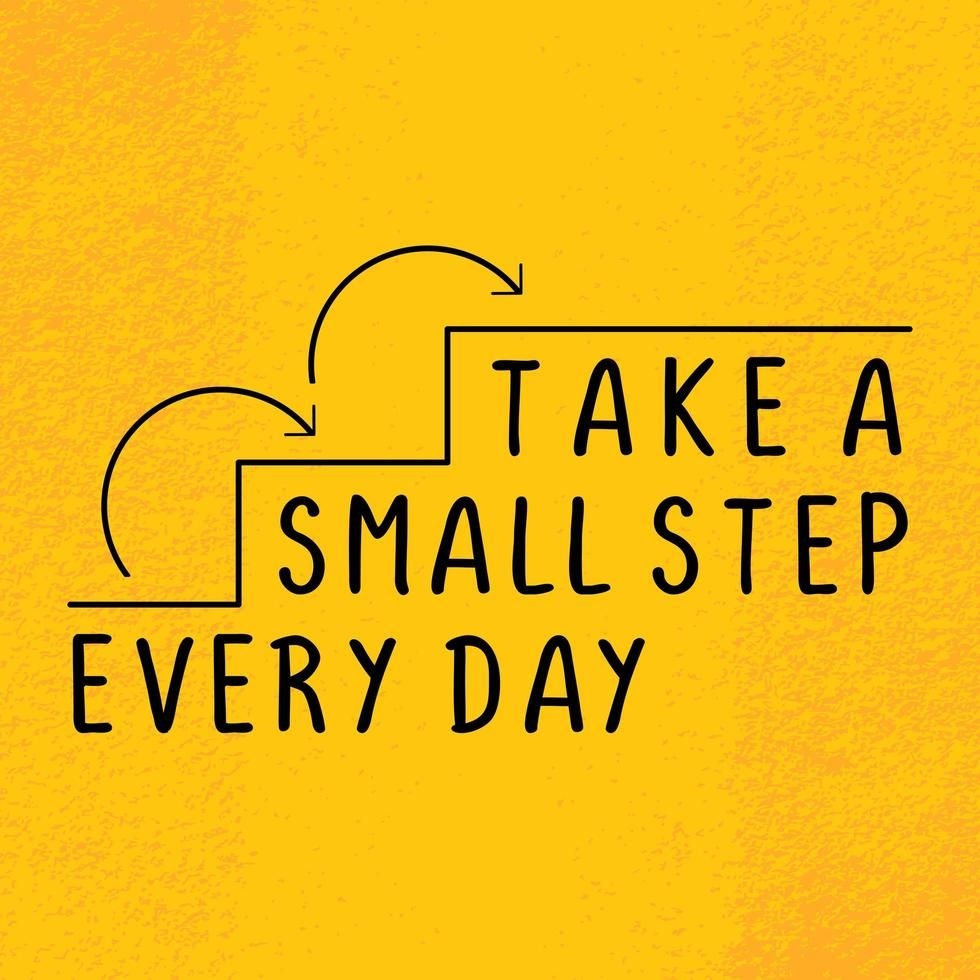 Download Take a small step everyday, Motivational quote poster, motivation words for success. for free