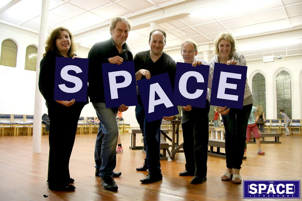 The volunteer directors of Ilfracombe Performance Space Ltd launch the SPACE in Ilfracombe