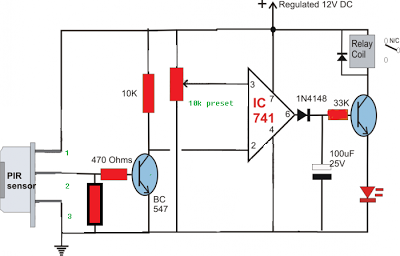 Pleasing Simple Circuit Diagram Using Pir Sensor Pir Senzor Pasiv In Wiring Digital Resources Indicompassionincorg