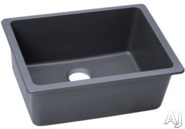 Elkay Elgu2522gy 25 Inch Undermount Kitchen Sink With 9 1 2 Inch Bowl Width Solid Granite Construction 3 1 2 Inch Drain Opening And Ansi Iapmo Z124 6 Complian Elkay Single Bowl Kitchen Sink Single Basin Kitchen Sink