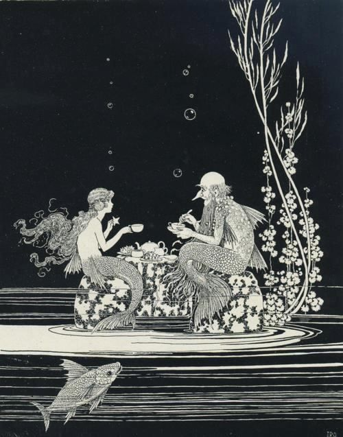 The Merman's Glass House from The Little Fairy Sister illustrated by Ida Rentoul Outhwaite (1888 - 1960). Published in 1926.