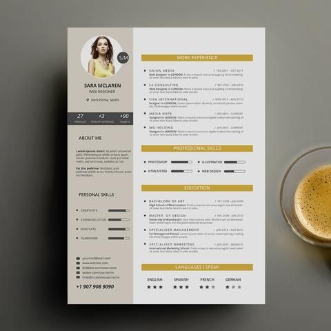 resume resumes stationery free resume cv curriculum vitae graphicriver print - Free Print Resume