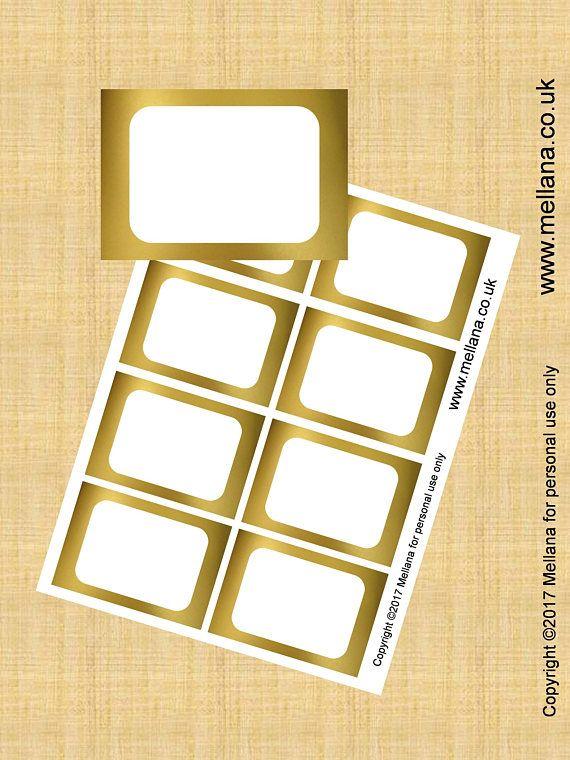 Food Labels Gold Foil Blank Food Labels Party Printables ...