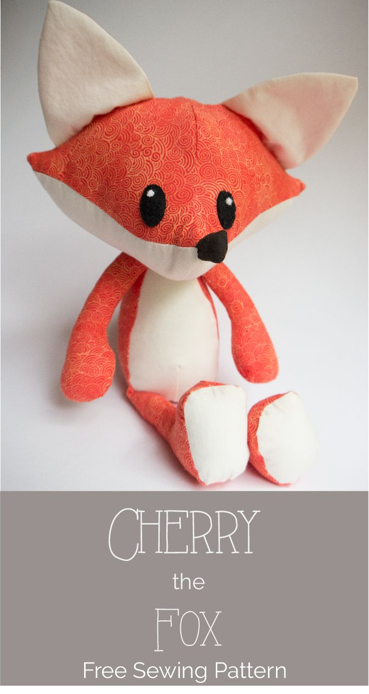 Free Fox Stuffed Animal Digital Sewing Pattern — Misty's Whimsies Stuffed Animal Patterns