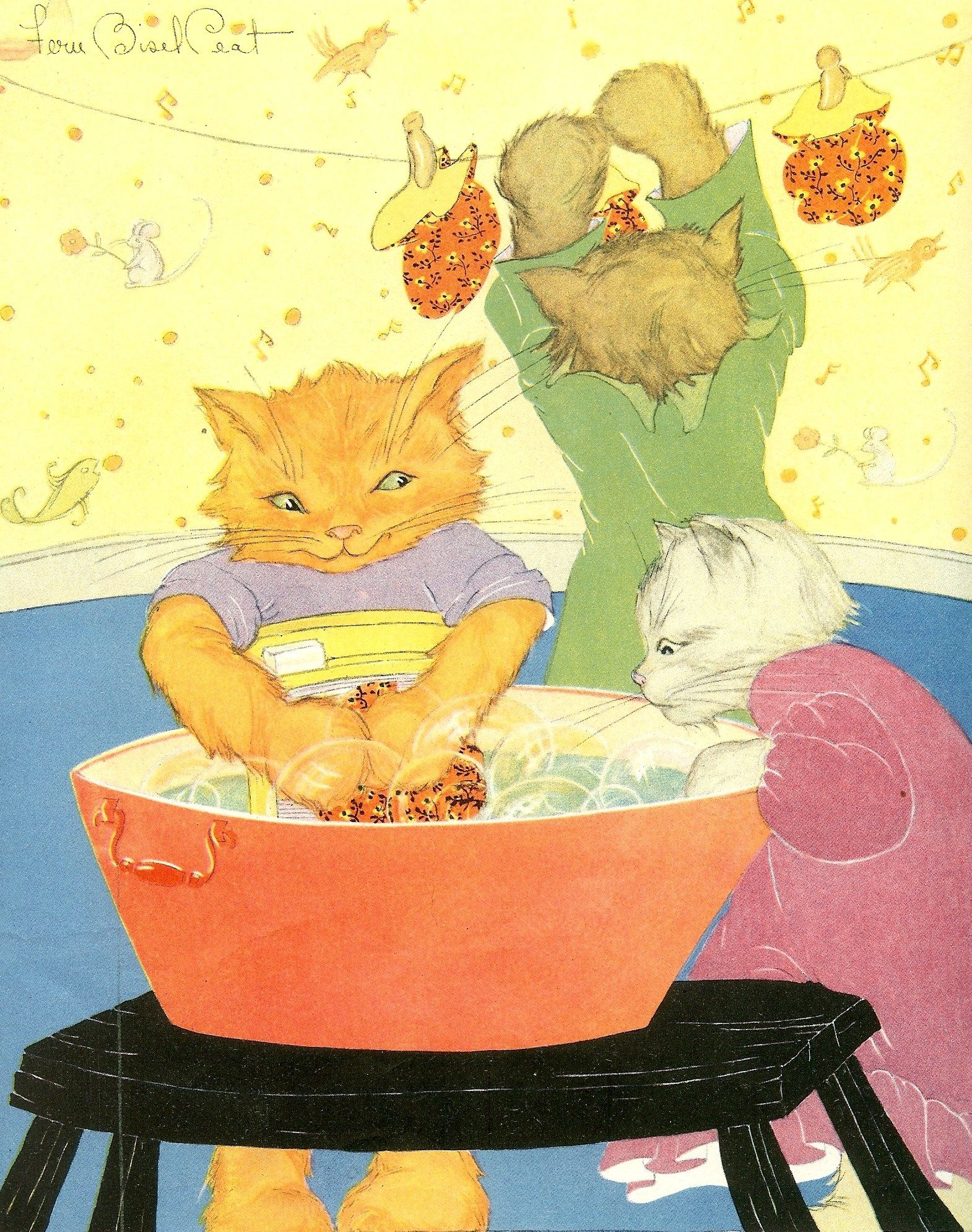 Pg9 What Soiled Your Mittens You Maughty Kittens Then They Began To Sigh Little Kittens Cat Art Vintage Artwork