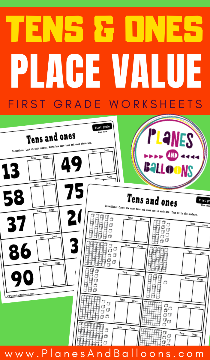 Place Value Worksheets For Grade 1 Tens And Ones Worksheets Pdf Planes Balloons Place Value Worksheets First Grade Worksheets 1st Grade Worksheets [ 1200 x 700 Pixel ]