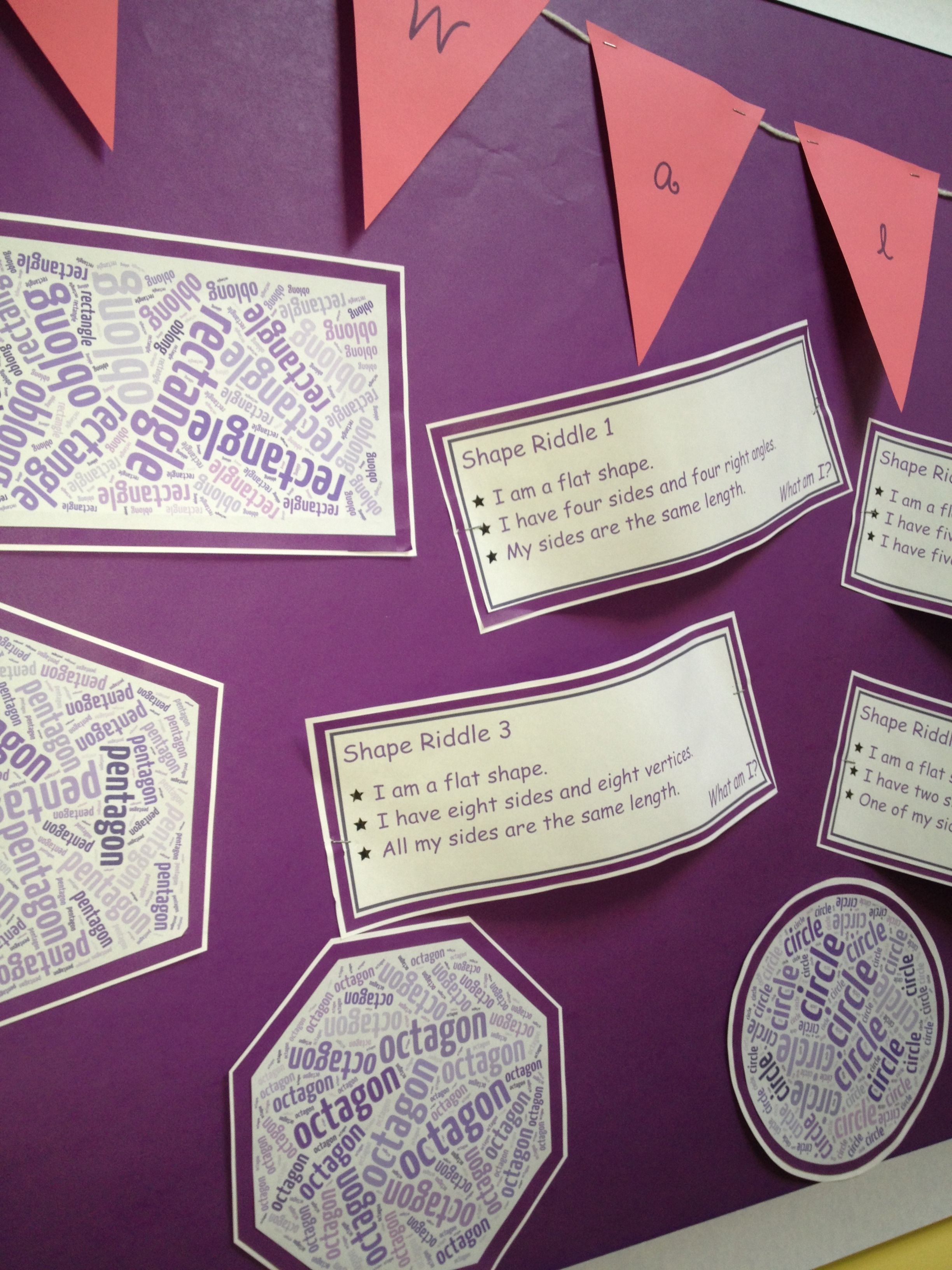 Close Up Of Maths Shape Display