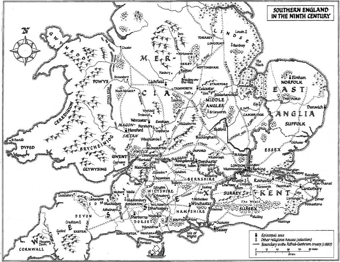 Anglo Saxon Southern England In The Ninth 9th Century