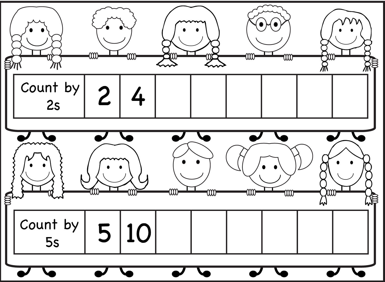 Skip Count By 5 Worksheet Kids