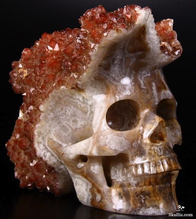 Cool horror gear geodes carved into skulls movie