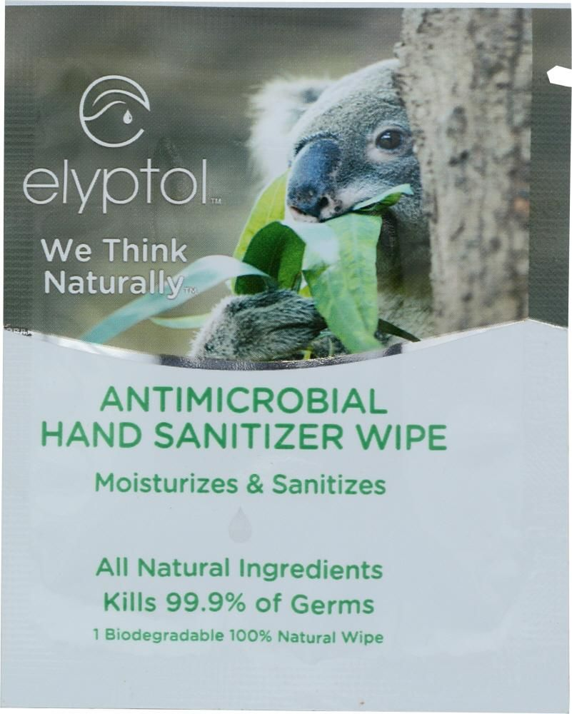 Elyptol Hand Sanitizer Wipes With Real Eucalyptus Scent 1 Ea