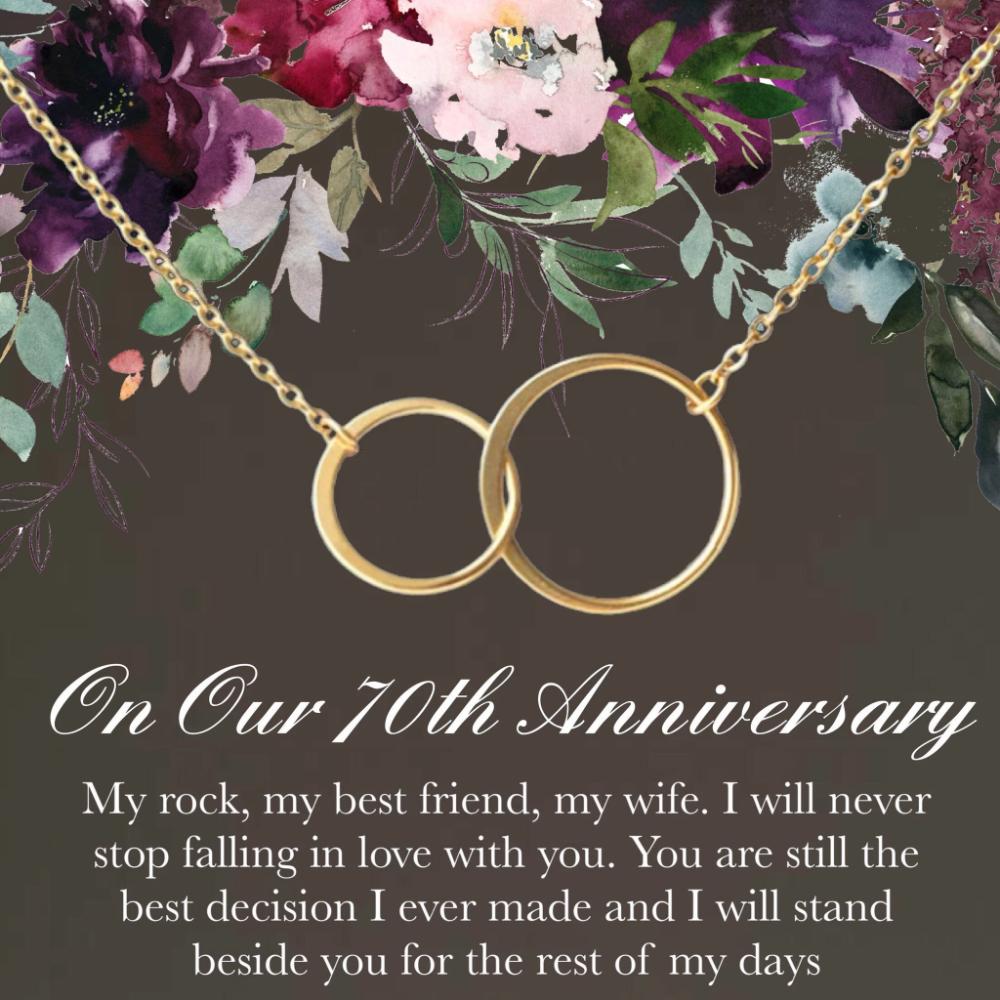 70th Anniversary Gift• 70 year anniversary•Happy