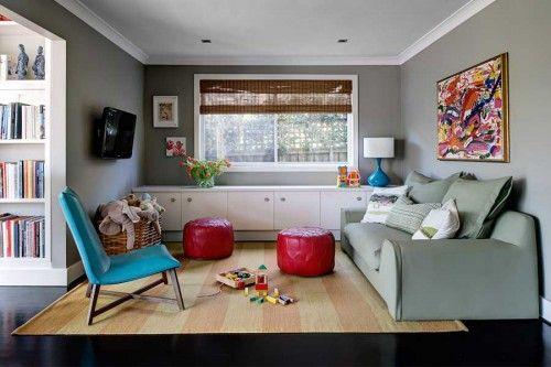 playroom interior stylish furniture decoration
