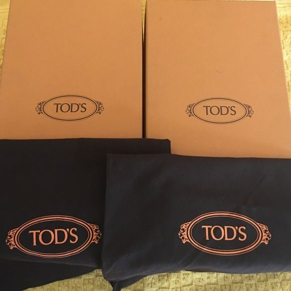 Tod's shoe boxes & bags