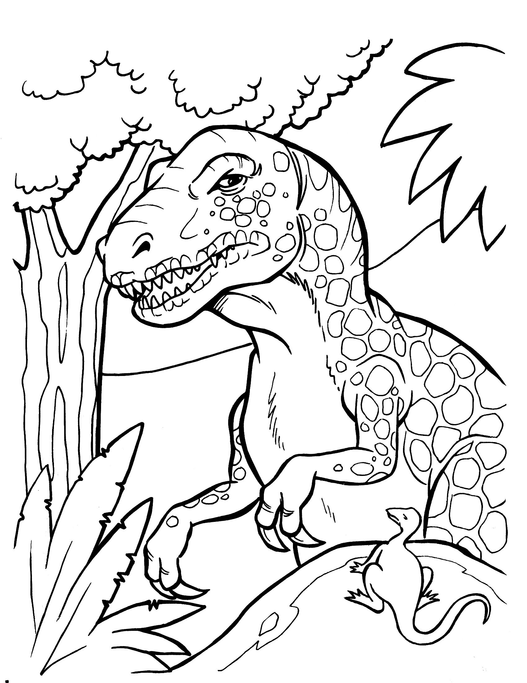 Dinosaur coloring pages trex - Free Printable Dinosaur Coloring Pages
