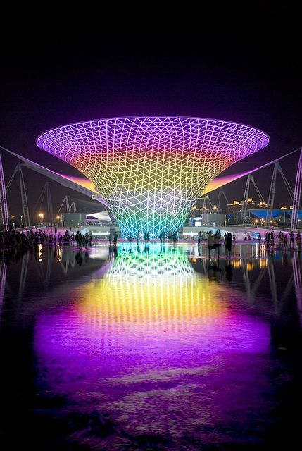 Amazing LED Outdoor Lighting with Water Fountain http://www.justleds.co