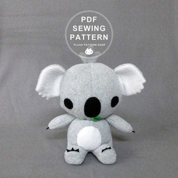 Koala Sewing Patterns, Koala Bear Toy, Koala Stuffed Animal Pattern ...