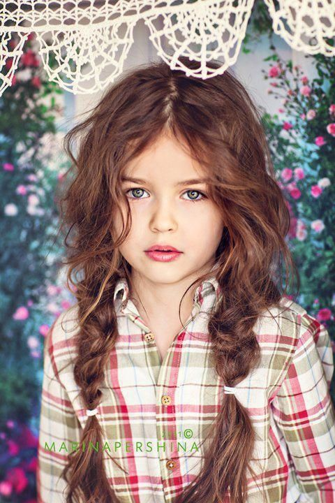Green Eyes Marina Pershina With Images Kids Hairstyles Hair