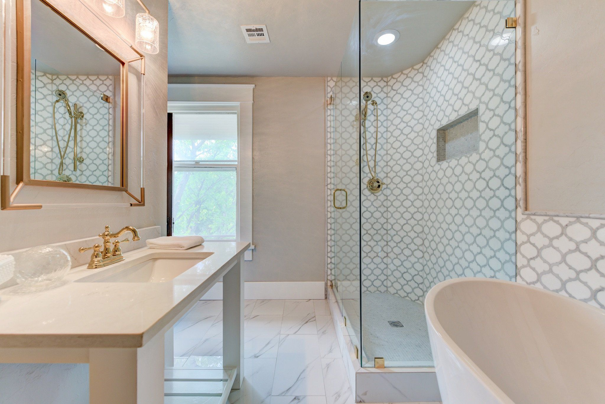 Shower Bathroom Tile Ideas Mosaic Tiles Arabesque Waterjet