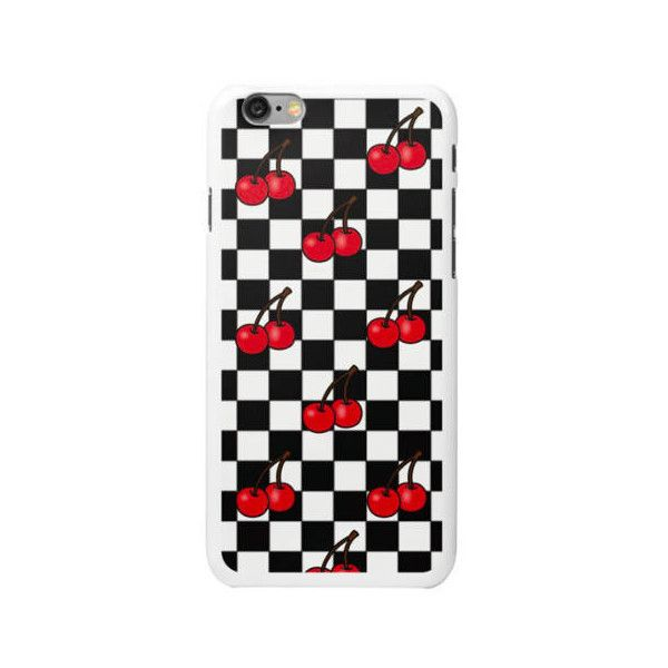 classic fit f640e 355a9 Cherry Checkered Snap On iPhone Case ($20) ❤ liked on Polyvore ...
