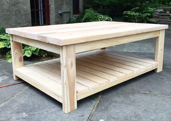 diy coffee table free plans woodworking diy coffee table rh pinterest com au