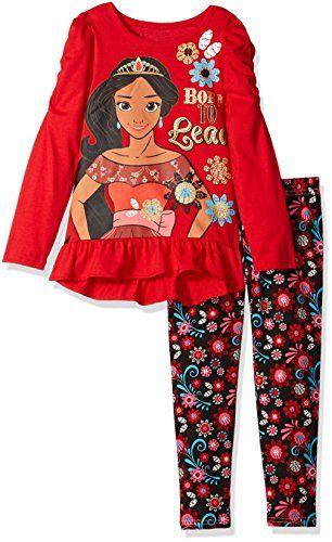 0075ce89cfc Disney Little Girls  2 Piece Elena of Avalor Hi-Lo Top and Legging Set
