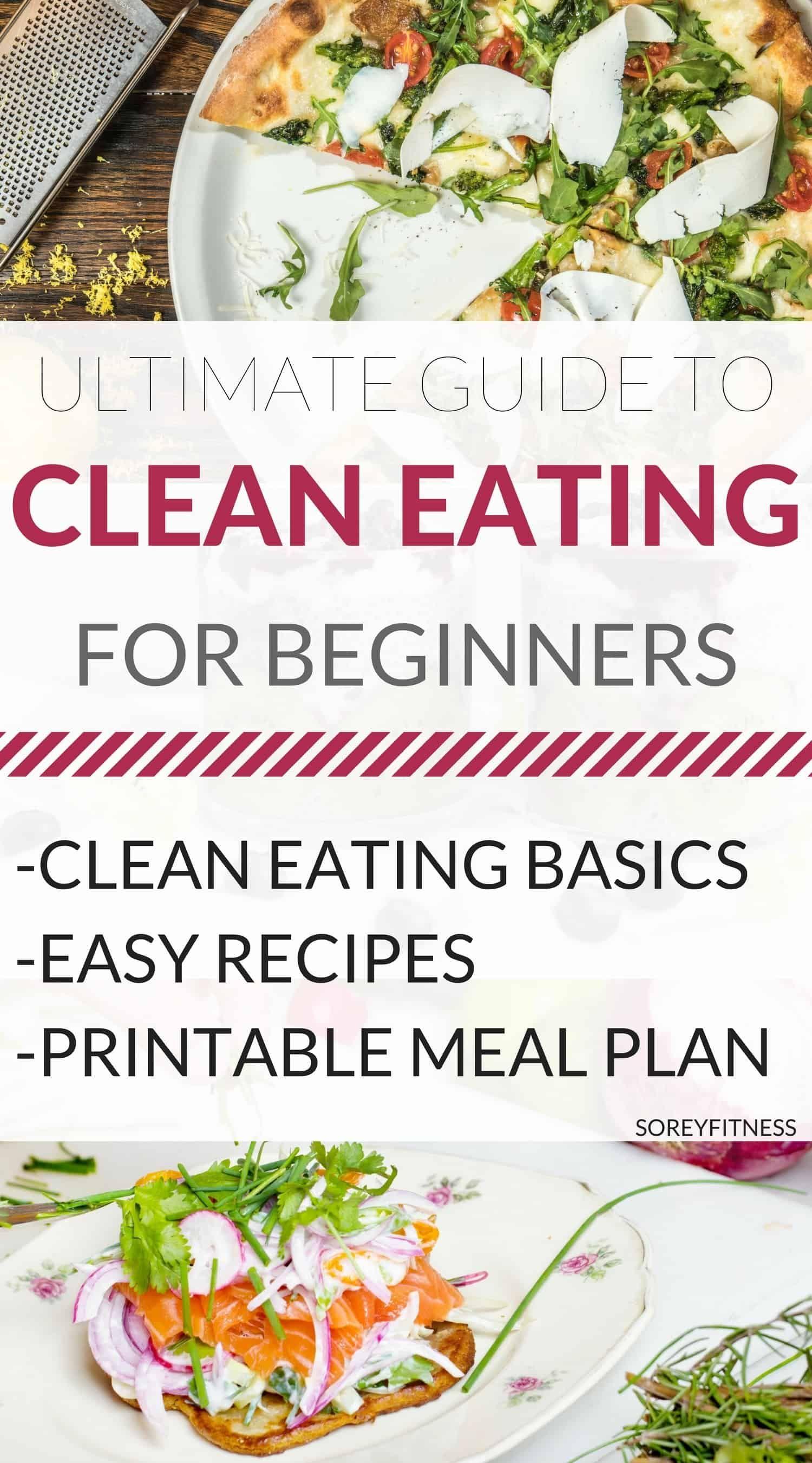 Clean Eating for Beginners [Ultimate Guide + Printable Meal Plan] #cleaneatingforbeginners