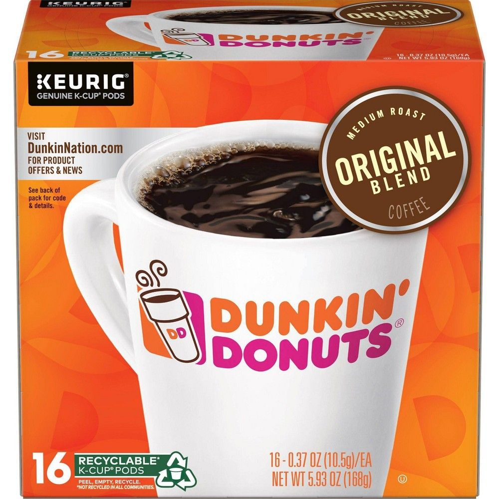 Dunkin Donuts Original Blend Medium Roast Coffee Keurig K Cup
