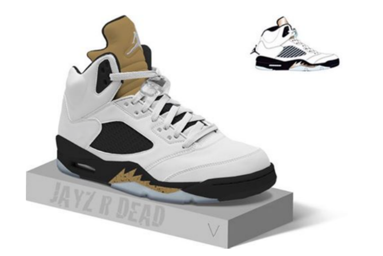 9cb97d324039 2018 Authentic Air Jordan 5 Olympic White BlacK Metallic Gold Coin ...