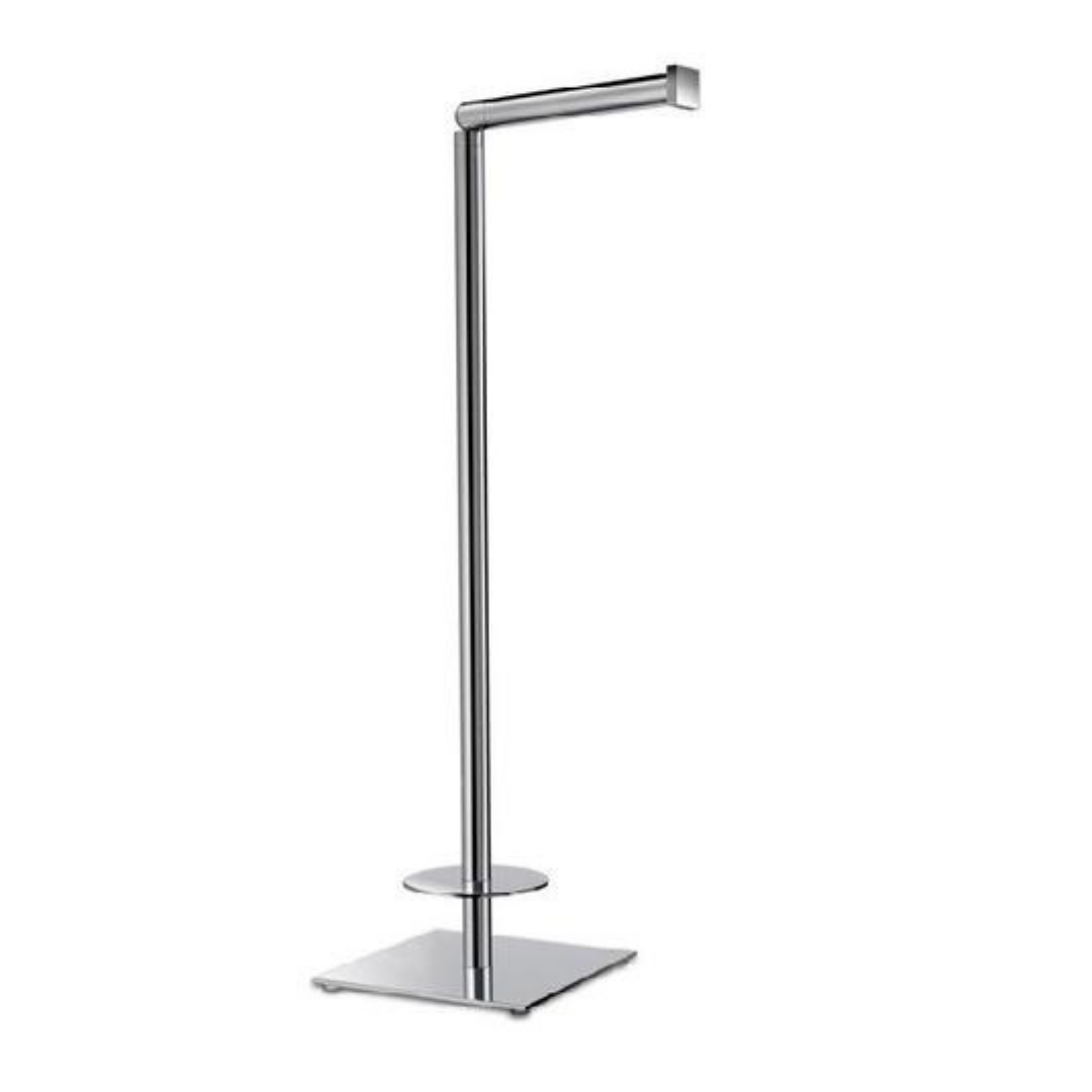 Bathroom Complements Spare And Toilet Paper Holder Square Modern Free Standing 19 Brass Polished Chrome Free Standing Toilet Paper Holder Toilet Paper Holder Polished Chrome