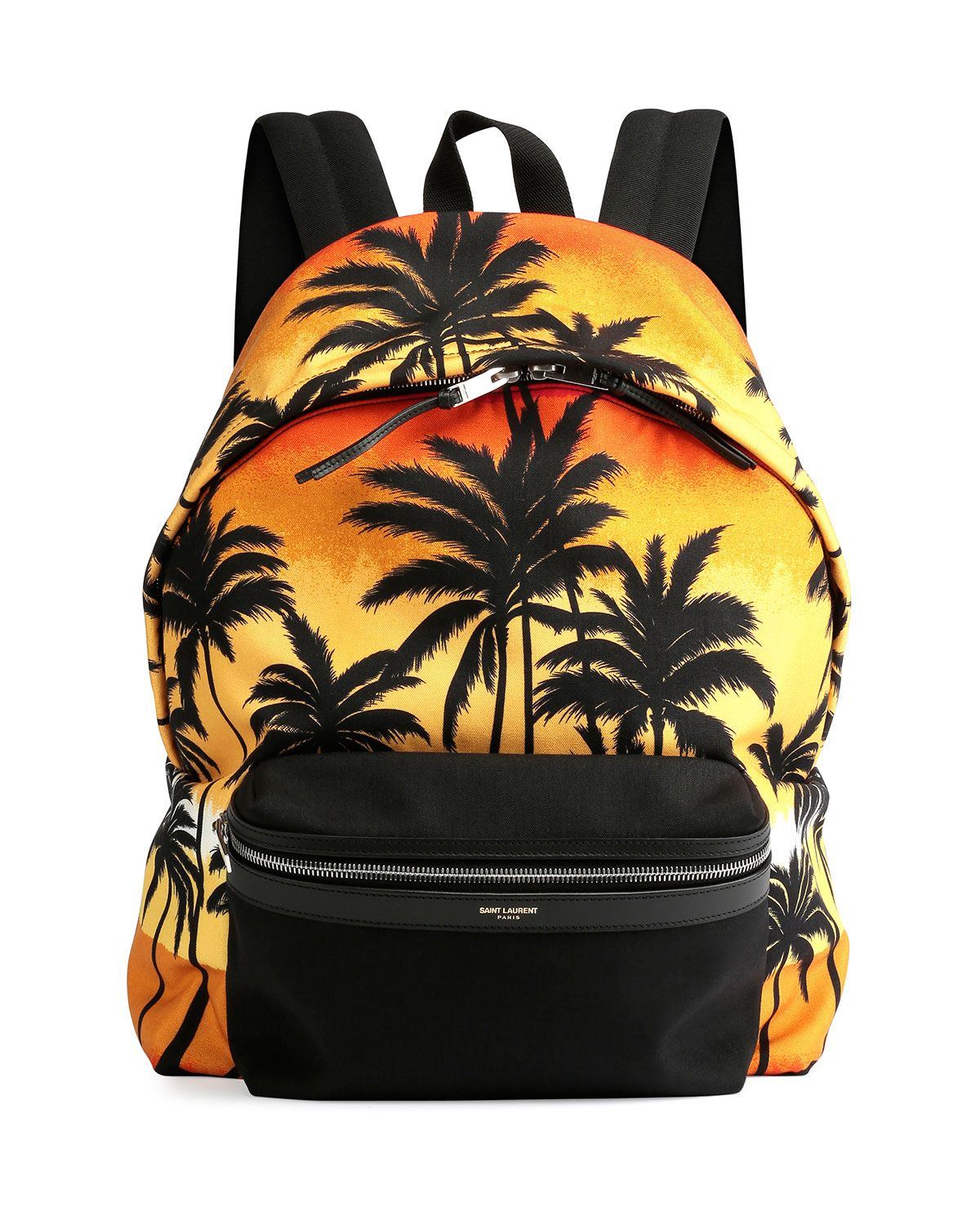 2d334158a5 Yves Saint Laurent Palm Tree Printed Backpack