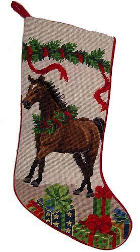 Large Horses /& Horseshoes Christmas Stocking