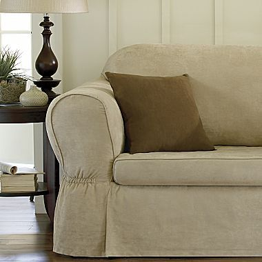 Slipcovers Microsuede Two Piece Sofa Jcpenney Slipcovered Sofa Slipcovers Furniture Covers Slipcovers