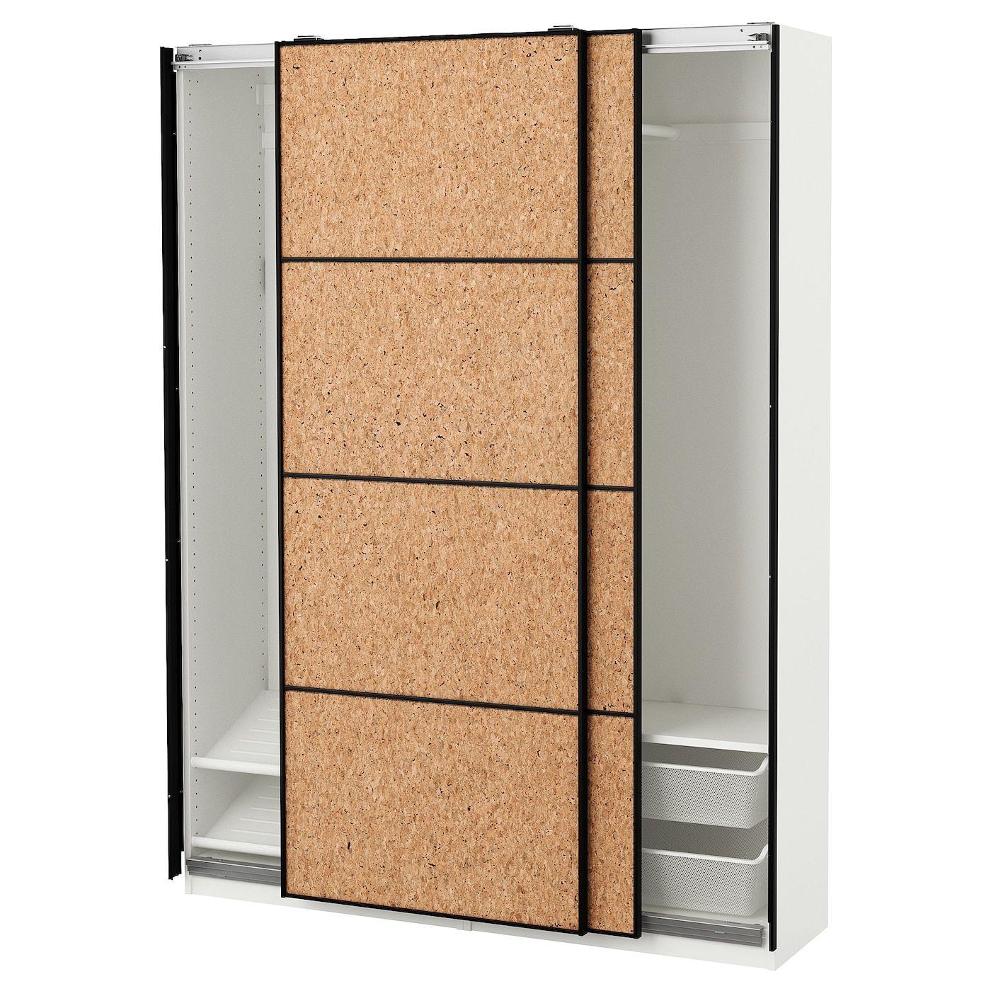 Panneau En Liège Ikea pax wardrobe - white, kirkenes cork veneer 59x17 3/8x79 1/4