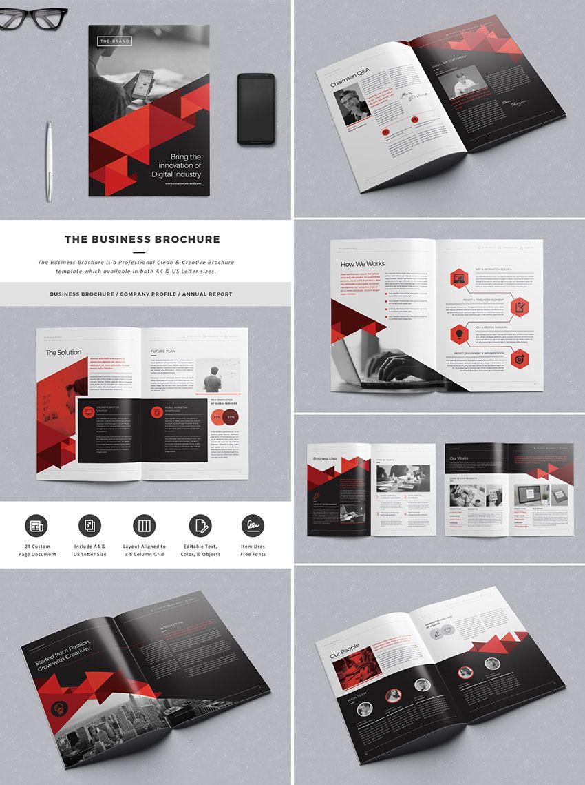 the business brochure template file 排版 pinterest business