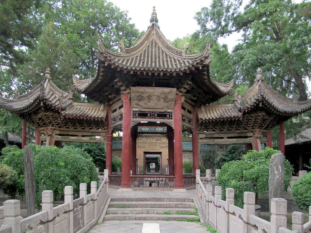 The Phoenix Pavilion At Xi An Great Mosque Founded 742 In Xi An Shaanxi China Was Designed To Resemble A Mythical Bir Pavilion Mythical Birds House Styles