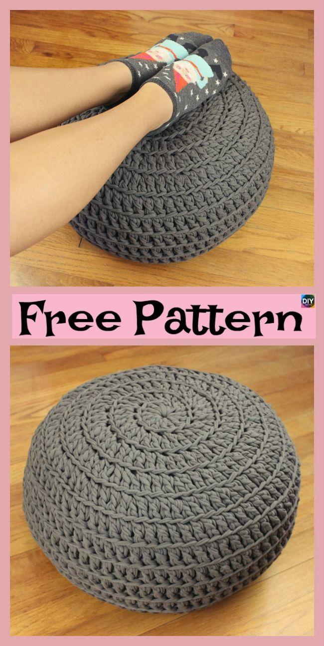 Cozy Crochet Floor Pouf - Free Pattern | Pinterest | Organizadores ...