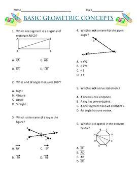 geometric concepts worksheet free activity geometry math courses teaching math math. Black Bedroom Furniture Sets. Home Design Ideas