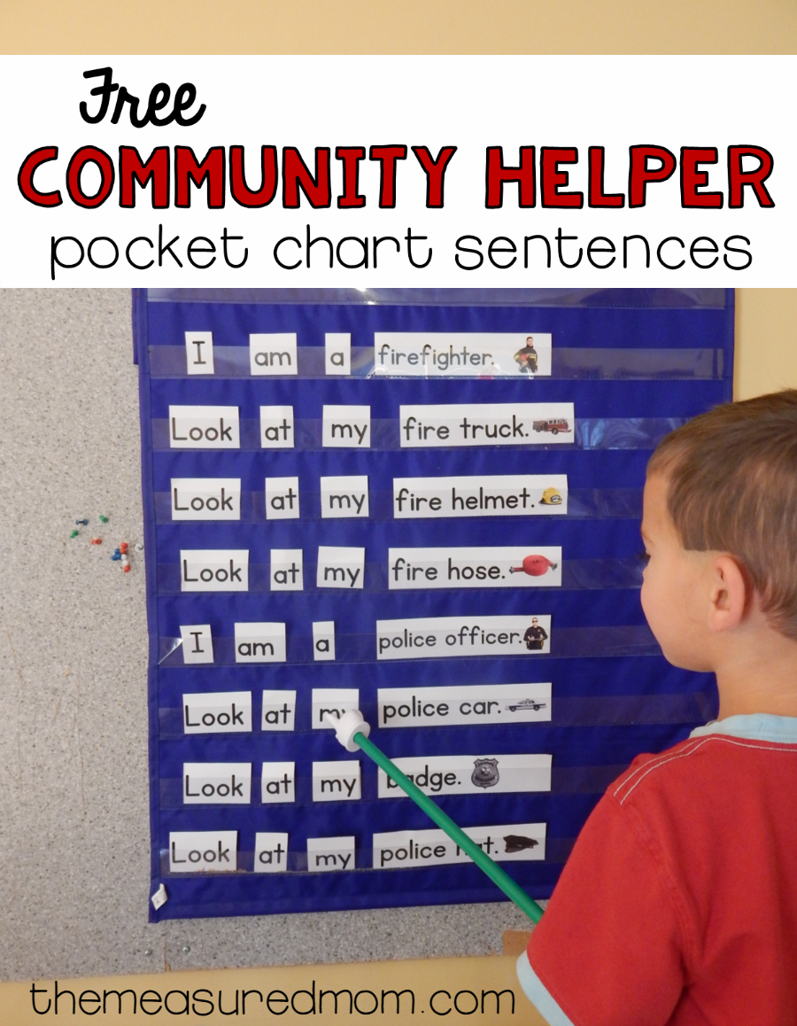 free community helpers activity for beginning readers basic
